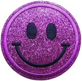 SMILEY PAARS GLITTER PATCH