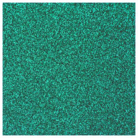 EMERALD GLITTER FLEX HEAT TRANSFER VINYL A4