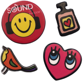 SMILEY HERZ PARFÜM PIN SET