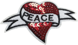 RED HEART PEACE PATCH