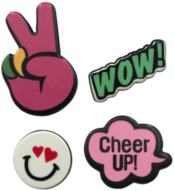 WOW CHEER UP PIN SET