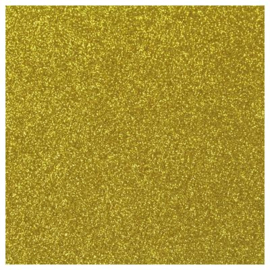 GOLD GLITTER FLEX HEAT TRANSFER VINYL A4