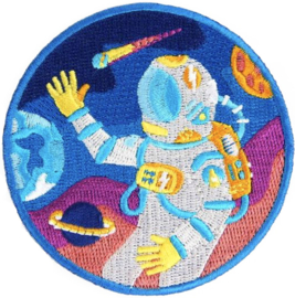 ROUND ASTRONAUT PATCH