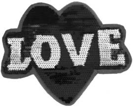 LOVE BLACK AND WHITE XXL PATCH