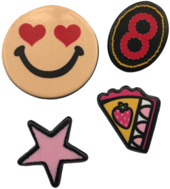 SMILEY PIE STAR PIN SET