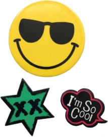 SO COOL SMILEY  PIN SET