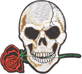 SKULL ROSE PATCH