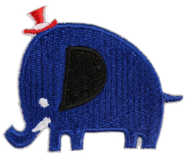 BLAUWE OLIFANT PATCH