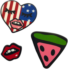 LIPS MELON PIN SET