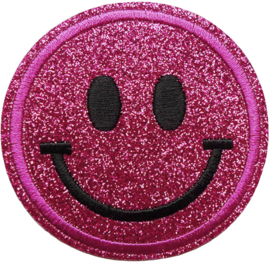 SMILEY ROZE GLITTER PATCH