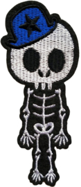 SKELETON BLUE HAT PATCH