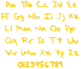 HANDWRITING LETTER STRIJKAPPLICATIE