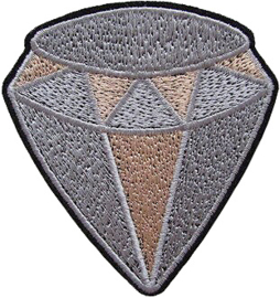GOUD ZILVEREN DIAMANT PATCH