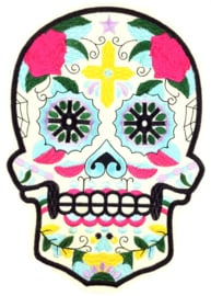 GREEN SUGAR SKULL PATCH