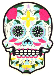 GREEN SUGAR SKULL XXL PATCH
