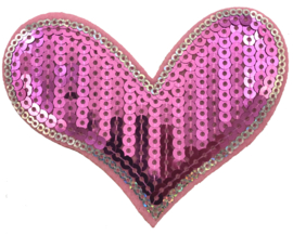 HEART ROZE/ZILVER PATCH