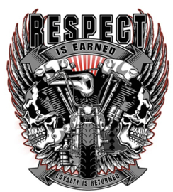 RESPECT IS EARNED IRON ON TRANSFER