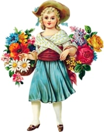 FLOWER GIRL IRON ON TRANSFER