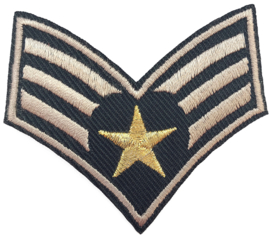 GREEN GOLD STAR EMBLEM  PATCH