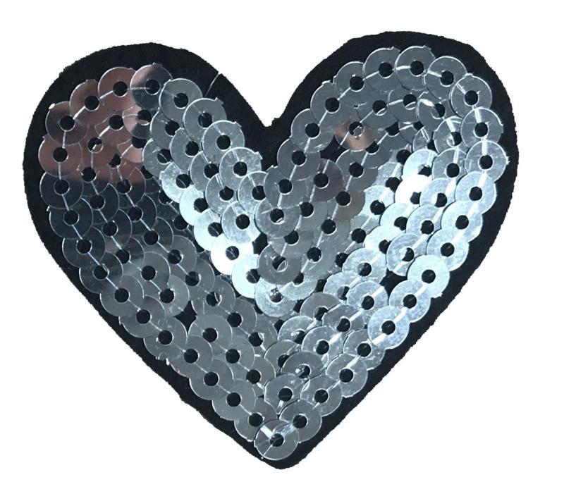 HEART ZILVER PATCH