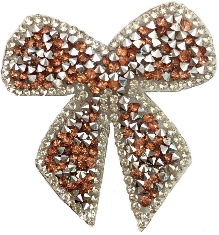 BRONZE WHITE BOW PATCH
