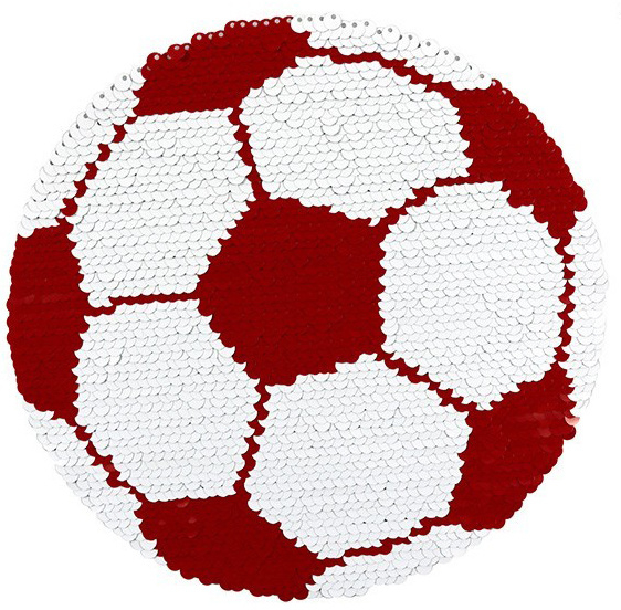 REVERSIBLE XXL VOETBAL PATCH