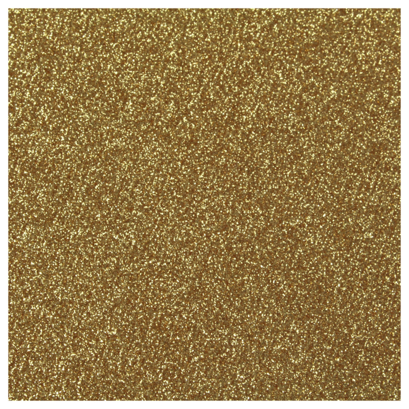 ALTES GOLD GLITZER FLEXFOLIE A4 BLATT
