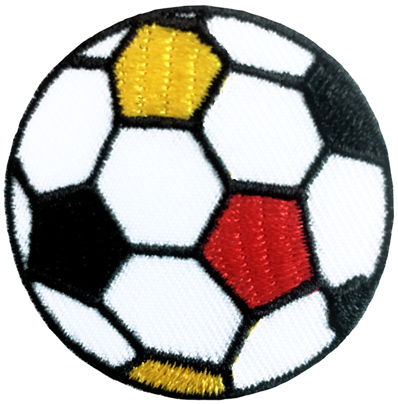 GEEL RODE  VOETBAL PATCH
