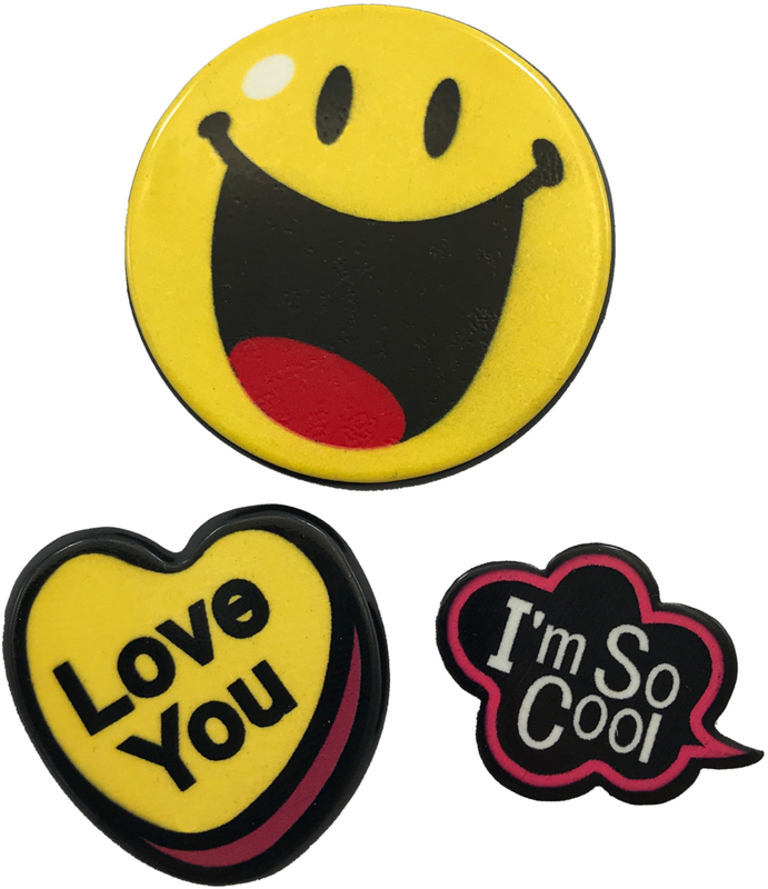 LOVE YOU SMILEY PIN SET