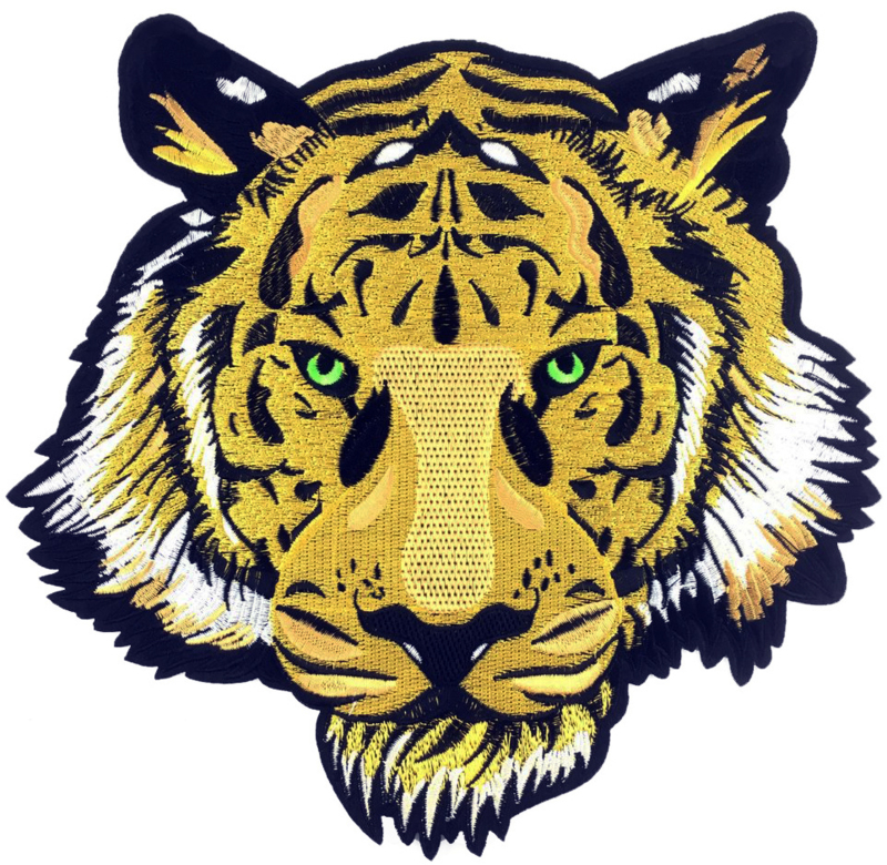 YELLOW TIGER HEAD PATCH