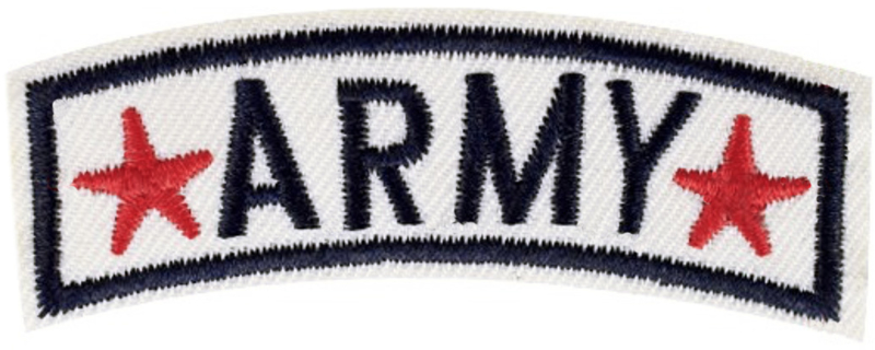 ARMY LABEL PATCH