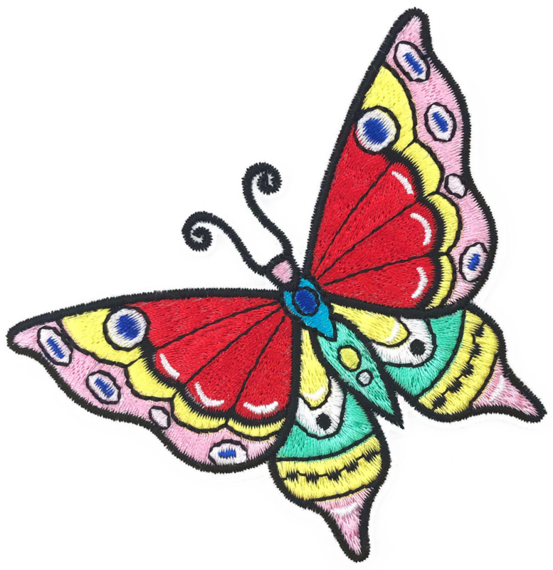 MULTI COLOR BUTTERFLY PATCH