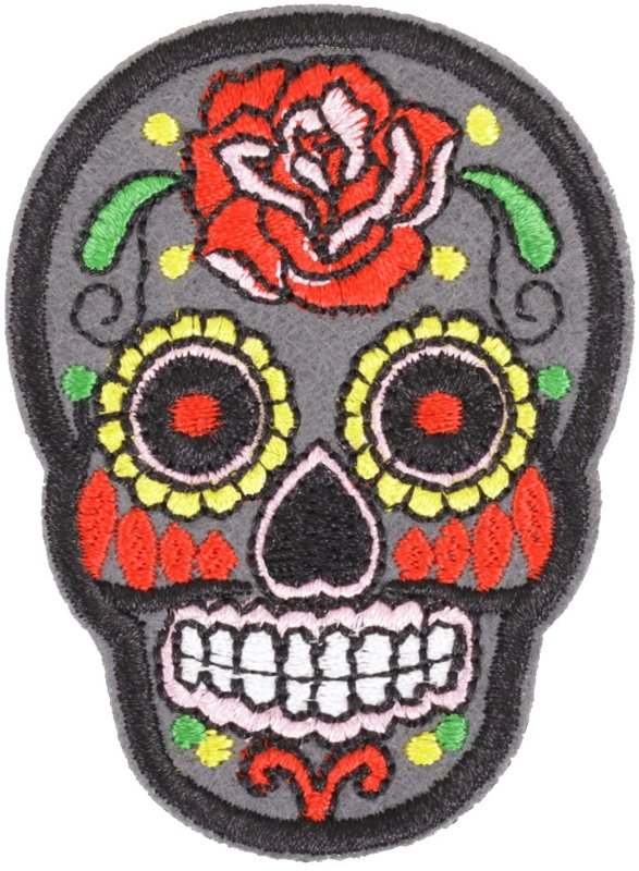 SKULL GREY PATCH