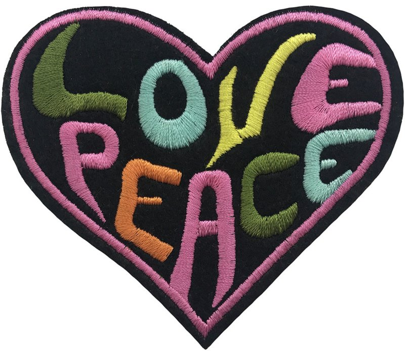 LOVE PEACE HEART PATCH
