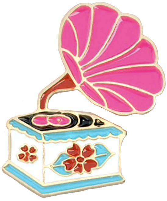 GRAMMAFOONSPELER PIN