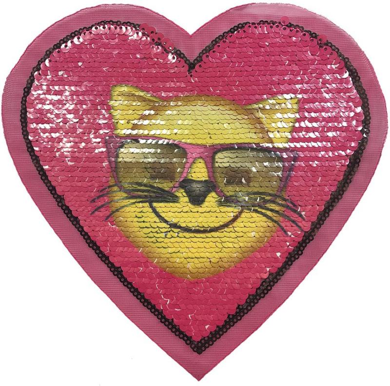 REVERSIBLE PINK HEART XXL PATCH