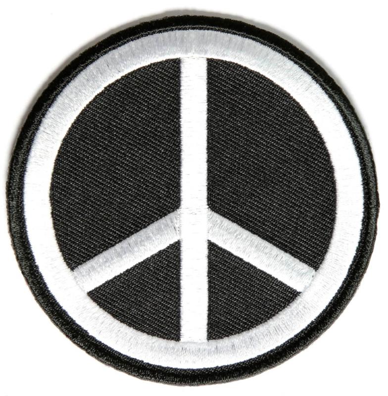 PEACE BLACK PATCH