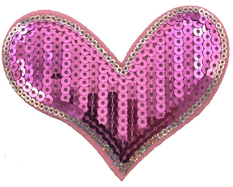 HEART ROZE/ZILVER PATCH