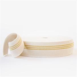 SYAS - Elastische Tailleband - 3 Gouden Lijnen