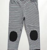 Legging zwart/wit gestreept fijn
