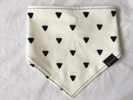 Bib driehoek zwart-creme