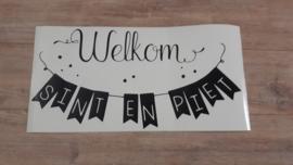 Welkom Sint en Piet sticker