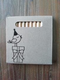 Potloodjes vogel op takje