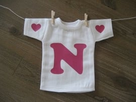 Mini shirt met letter