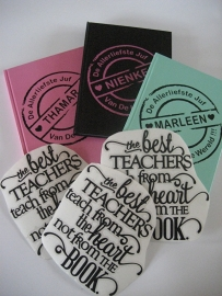 Notitieboekje met sticker naar keuze