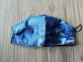 Mondkapje spijkerbroek camouflage