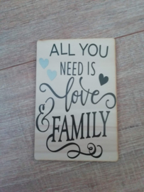 Kaart All you need is Family