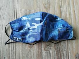 Mondkapje camouflage spijkerbroek