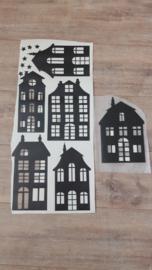 Setje huisjes stickers