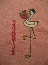 Handdoek met naam en afbeelding